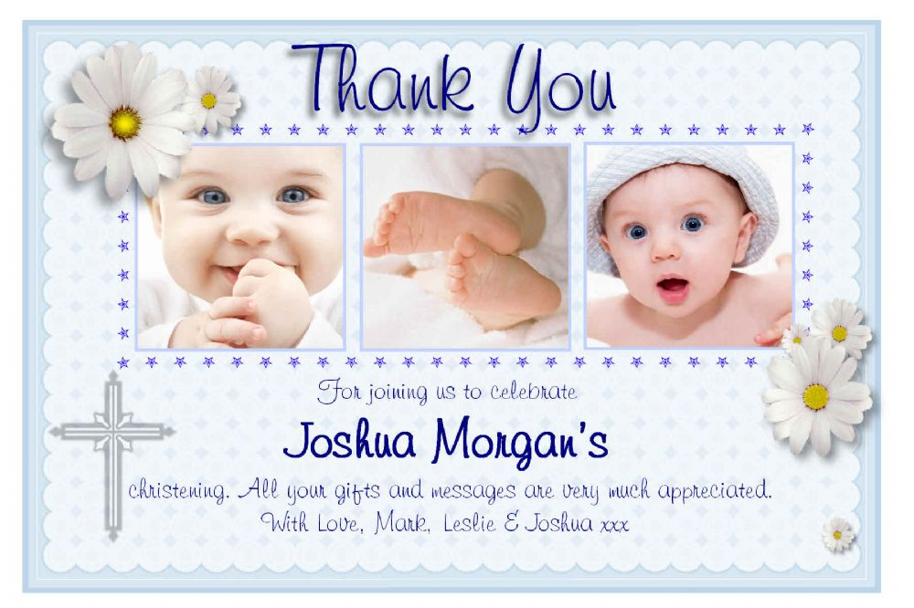 Personalised Christening Thank You Cards Personalised